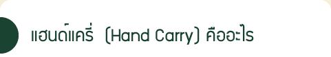 แฮนด์แครี่  (Hand Carry) คืออะไร